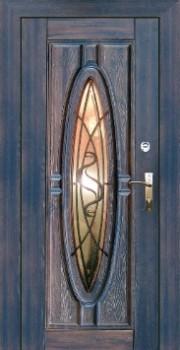 входные металлические двери с цветными стеклами